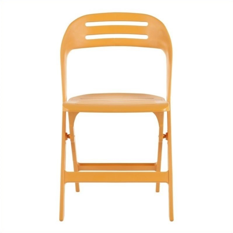 Safavieh Billy Orange Folding Chair in Orange (Set of 4)