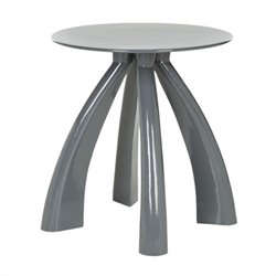 Safavieh Iridium Iron Stool in Warm Grey