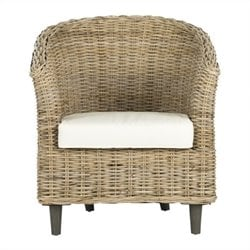 Safavieh Omni Wicker Barrel Chair in Natural Unfinished
