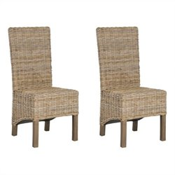 Safavieh Pembrooke Mango   Dining Chair in Natural Unfinished (Set Of 2)