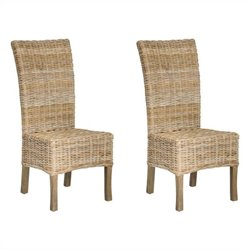 Safavieh Quaker Mango   Dining Chair in Natural Unfinished (Set Of 2)