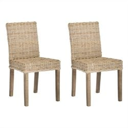 Safavieh Grove Mango   Dining Chair in Natural Unfinished (Set Of 2)