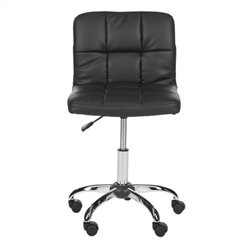 Safavieh Brunner Desk Office Chair in Black