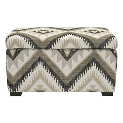 Safavieh Jeff Beech Wood Storage Bench in Tribal Design