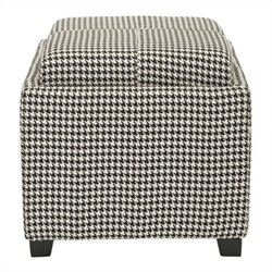 Safavieh Carter Polyester Tray Ottoman in Hounds Tooth