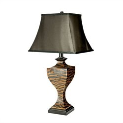 Safavieh Zebra Table Lamps in Brown (Set of 2)