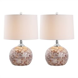 Safavieh Nikki Shell Table Lamp in Shell (Set of 2)