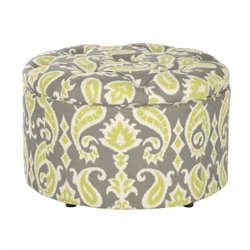 Safavieh Tanisha Shoe Ottoman in Green and Gray