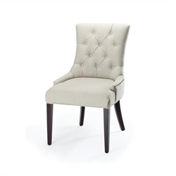Safavieh Amanda Tufted Birch Wood Chair in Gray