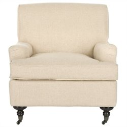 Safavieh Chloe Birch Wood Club Chair in Hemp