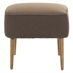 Safavieh Jerry Birch Wood Ottoman in Brown
