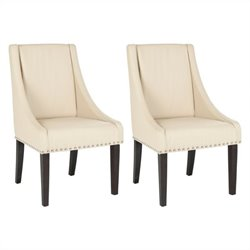 Safavieh Britannia Birch  Kd  Dining Chair in Cream (Set Of 2)