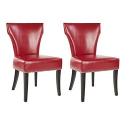 Safavieh Maria  Birch  Dining Chair in Red (Set Of 2)