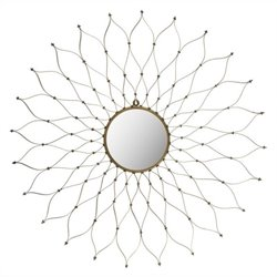 Safavieh Iron and Glass Onile Mirror in Gold