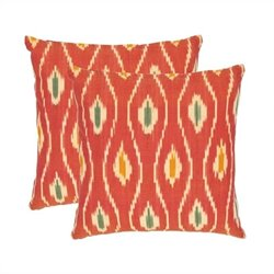 Safavieh Taylor 22-inch Cotton Decorative Pillows in Red (Set of 2)