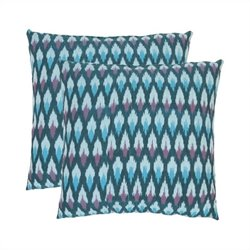 Safavieh Taylor 22-inch Cotton Decorative Pillows in Blue (Set of 2)