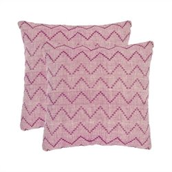 Safavieh Victor 18-inch Cotton Decorative Pillows in Rose (Set of 2)
