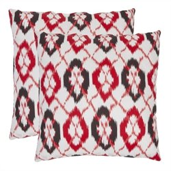 Safavieh Drew 22-inch Cotton Decorative Pillows in Red (Set of 2)