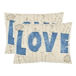 Safavieh Mallory Decorative Pillow in Blue (Set of 2)