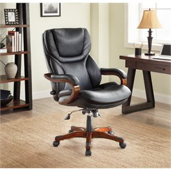 At Home Executive Office Chair in Black