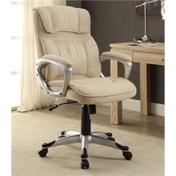 At Home Executive Office Chair in Fawn Tan Linen