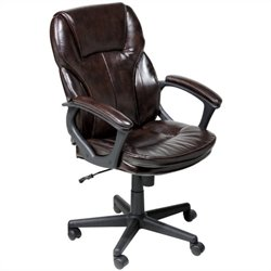 Manager Office Chair in Brown Puresoft Faux Leather