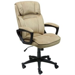 Executive Office Chair in Velvet Coffee Microfiber