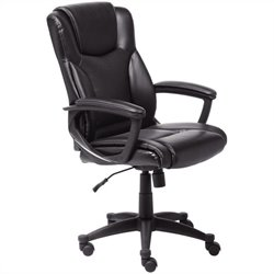 Executive Office Chair in Black Bonded Leather