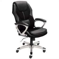 Office Chair in Puresoft Black Faux Leather