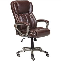Executive Office Chair in Brown Bonded Leather