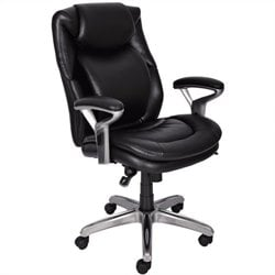 AIR Office Chair in Black Bonded Leather