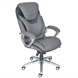 AIR Executive Office Chair Grey Bonded Leather