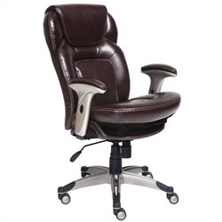 Back in Motion Office Chair in Chocolate Bonded Leather
