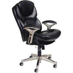 Back in Motion Office Chair in Black Bonded Leather
