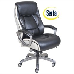 Ergonomic Leather Executive Office Chair in Black