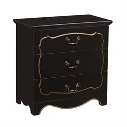PRI Fancy 3 Drawer Chest in Black
