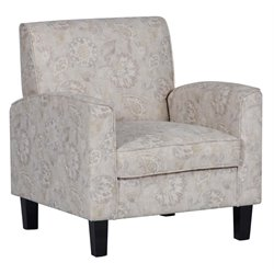 PRI Sylvie Haze Paisley Upholstered Accent Arm Chair