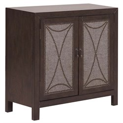 PRI Nailhead Door Accent Chest in Brown