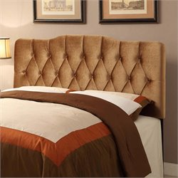MER-1242 Velvet Upholstered Headboard in Rich Bronze