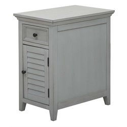 PRI Shutter Door End Table in Cool Gray