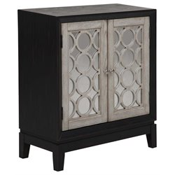PRI Mirrored Accent Door Chest in Black