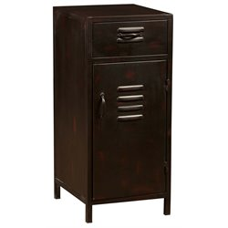 PRI Metal Door Accent Chest in Distressed Brown