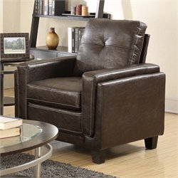 PRI Modern Leather Chair in Chocolate