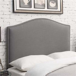 MER-1242 Camel Back Upholstered Headboard in Ash Gray