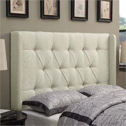 MER-1242 Shelter Button Tufted Headboard in Beige