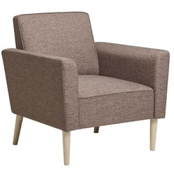 PRI Upholstered Accent Arm Chair in Light Brown