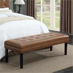 MER-1242 Faux Leather Tufted Bedroom Bench