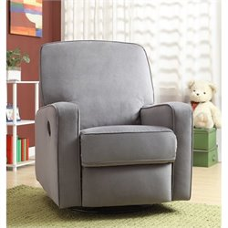 PRI Sutton Fabirc Swivel Glider Recliner
