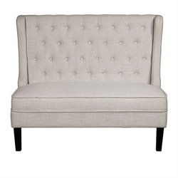 PRI Fabric Upholstered Settee in Oatmeal