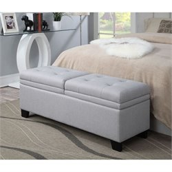 PRI Upholstered Storage Bedroom Bench in Trespass Marmor